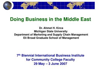 Dr. Ahmet H. Kirca Michigan State College Division of Advertising and Inventory network Administration Eli Expansive Doc