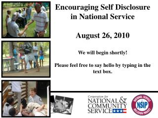 Empowering Self Exposure in National Administration August 26, 2010 We will start presently! If you don't mind don't hes