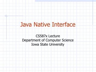 Java Local Interface CS587x Address Division of Software engineering Iowa State College