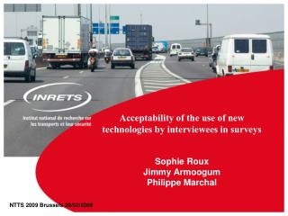 Worthiness of the utilization of new advances by interviewees in reviews Sophie Roux Jimmy Armoogum Philippe Marchal