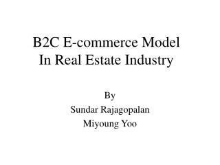 B2C E-business Model In Land Industry