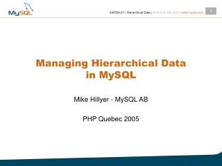 Overseeing Various leveled Information in MySQL
