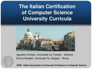 The Italian Confirmation of Software engineering College Educational program