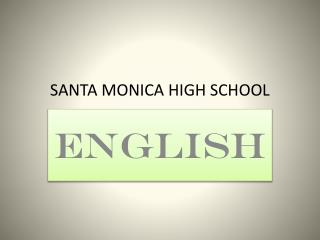 Santa Clause MONICA Secondary SCHOOL
