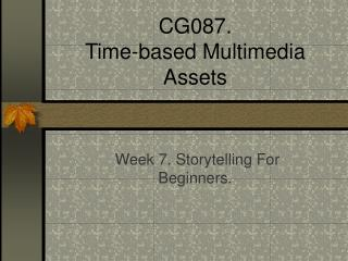 CG087. Time-based Media Resources