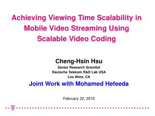 Accomplishing Seeing Time Versatility in Portable Video Spilling Utilizing Adaptable Video Coding