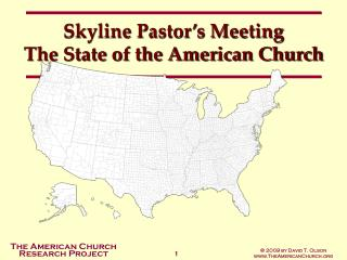 Horizon Minister's Meeting The Condition of the American Church