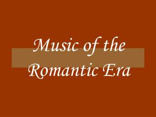 Music of the Sentimental Period