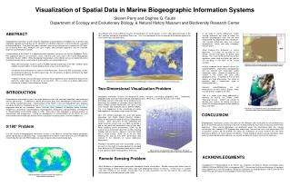 Perception of Spatial Information in Marine Biogeographic Data Frameworks