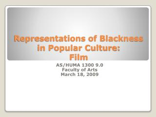 Representations of Obscurity in Mainstream culture: Film