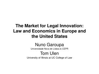 The Business sector for Legitimate Advancement: Law and Financial aspects in Europe and the United States