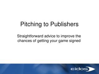 Pitching to Distributers