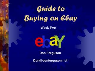 Manual for Purchasing on Ebay