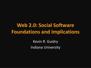 Web 2.0: Social Programming Establishments and Suggestions