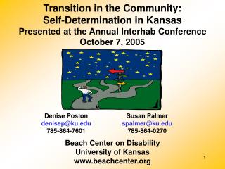 Move in the Group: Self-Determination in Kansas Exhibited at the Yearly Interhab Meeting October 7, 2005
