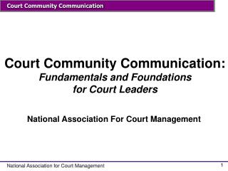 Court Group Correspondence: Essentials and Establishments for Court Pioneers