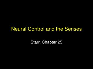 Neural Control and the Faculties