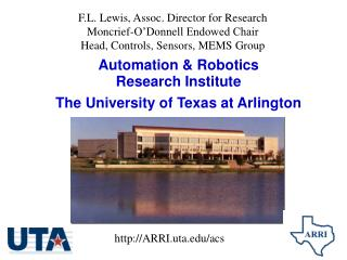Computerization and Apply autonomy Research Foundation The College of Texas at Arlington