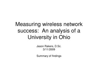 Measuring remote system achievement: An investigation of a College in Ohio