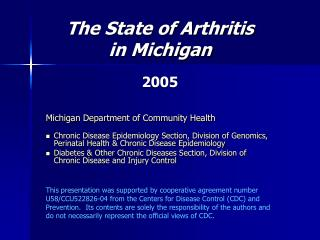 The Condition of Joint inflammation in Michigan