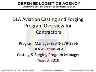 DLA Flight Throwing and Producing Program Review for Contractual workers