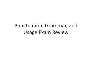Accentuation, Linguistic use, and Use Exam Audit