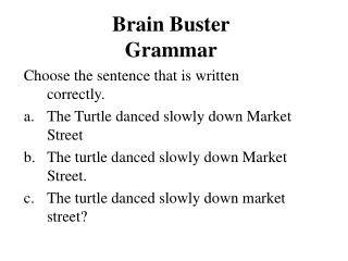Mind Buster Linguistic use