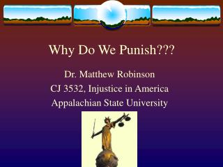 Why Do We Punish???