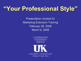Presentation made for Advertising Expansion Preparing February 28, 2008 Walk 6, 2008