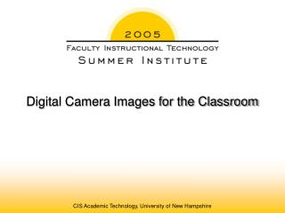 Computerized Camera Pictures for the Classroom