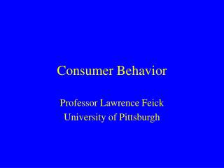 Purchaser Conduct