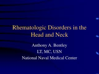 Rhematologic Disarranges in the Head and Neck