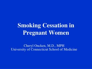 Smoking Discontinuance in Pregnant Ladies