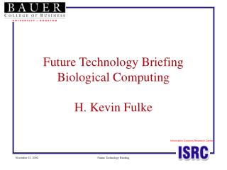 Future Innovation Preparation Organic Processing H. Kevin Fulke