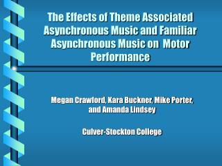 The Impacts of Subject Related Offbeat Music and Natural Nonconcurrent Music on Engine Execution