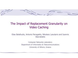 The Effect of Substitution Granularity on Video Reserving