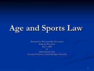 Age and Games Law
