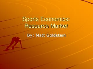 Sports Financial aspects: Asset Market