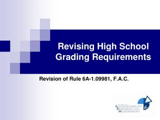 Updating Secondary School Evaluating Prerequisites