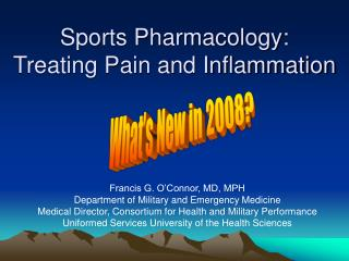 Sports Pharmacology: Treating Agony and Irritation