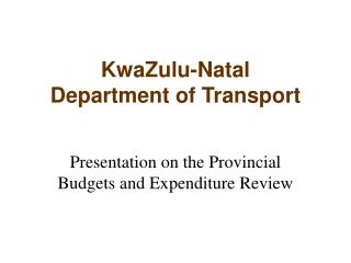 KwaZulu-Natal Bureau of Transport