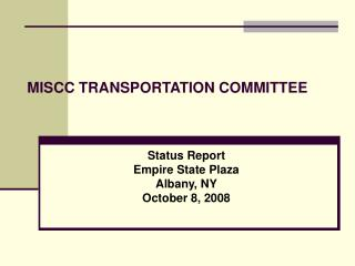 MISCC TRANSPORTATION Board of trustees