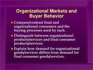 Authoritative Markets and Purchaser Conduct