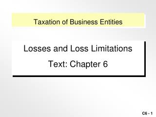 Tax assessment of Business Elements