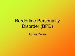 Marginal Identity Issue (BPD)