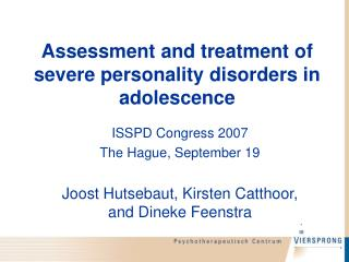 Evaluation and treatment of serious identity issue in youth