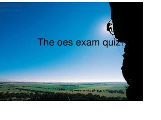 The oes exam test!