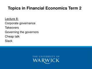 Subjects in Budgetary Financial aspects Term 2
