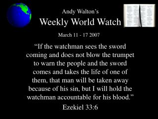 Andy Walton's Week after week World Watch