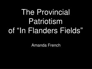 "The Common Patriotism of ""In Flanders Fields"""